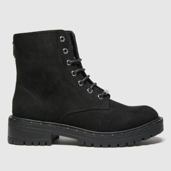 schuh Black Amelia Lace Up Boot Womens Boots