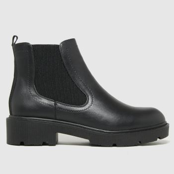schuh Black Ailsa Chunky Chelsea Womens Boots