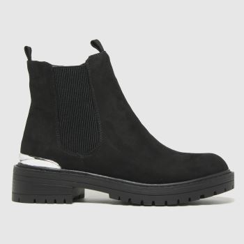 schuh Black Anthea Chunky Hardware Womens Boots