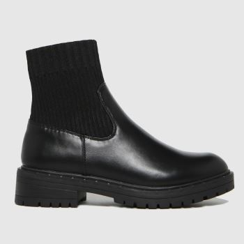 schuh Black Adaire Chunky Sock Womens Boots