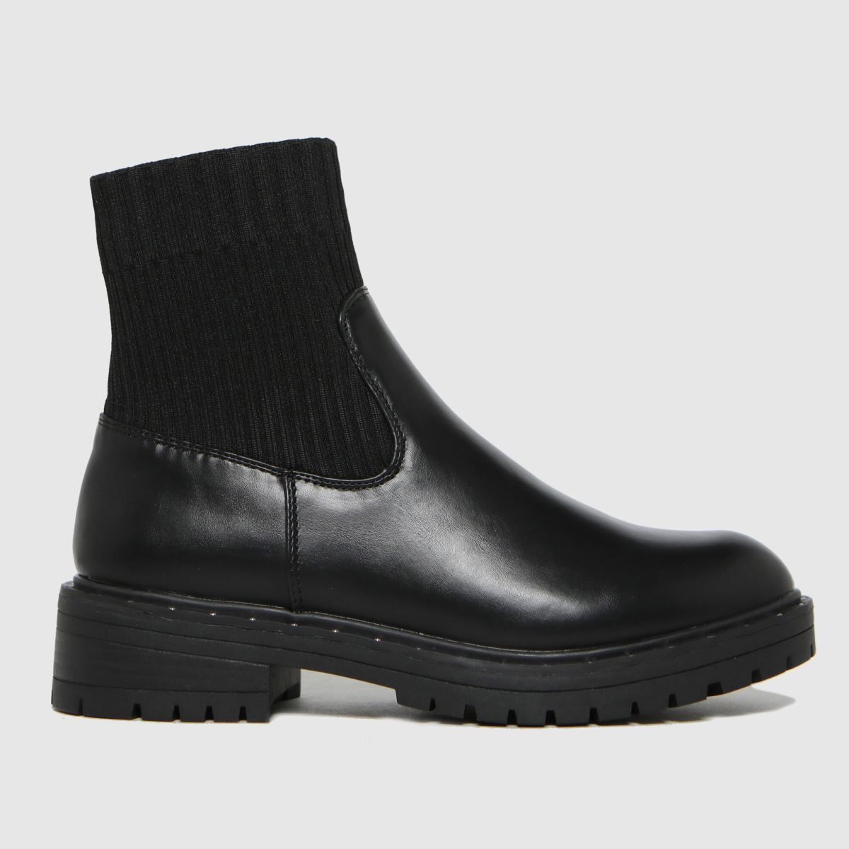 Schuh Black Adaire Chunky Sock Boots
