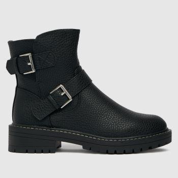 schuh Black Ashley Biker Womens Boots