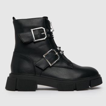 schuh Black Ashanti Buckle Zip Boot Womens Boots