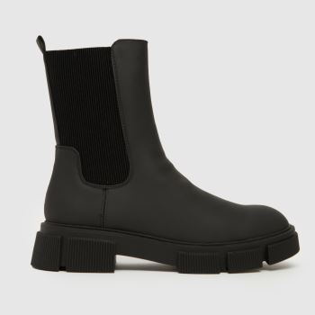 schuh Black Wf Aniston Chunky Chelsea Womens Boots