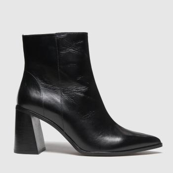 schuh Black Blaire Leather Point Womens Boots