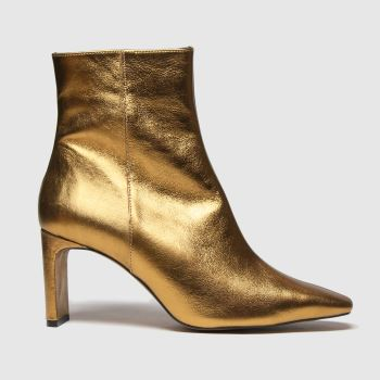 schuh Gold Bee Leather Square Toe Womens Boots