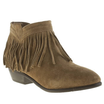 SCHUH TAN HYPERACTIVE BOOTS