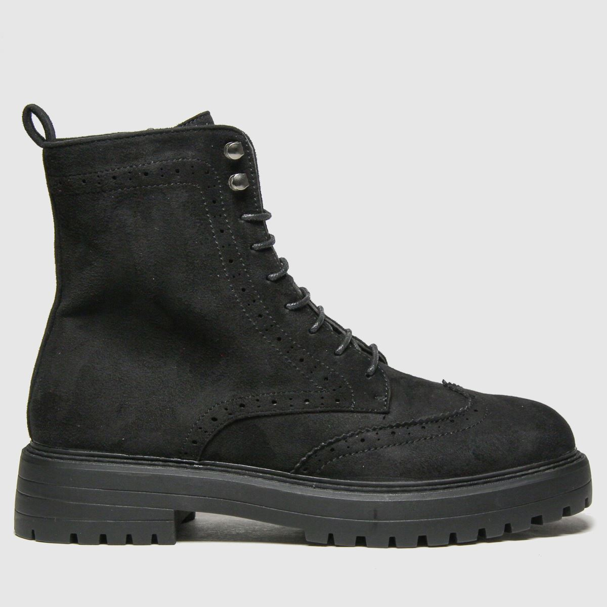 Schuh Black Anabelle Brogue Lace Up Boots