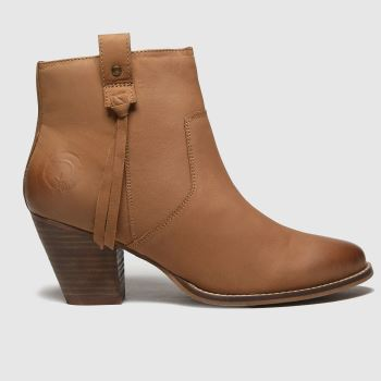 Red Or Dead Tan Rhea Leather Western Boots