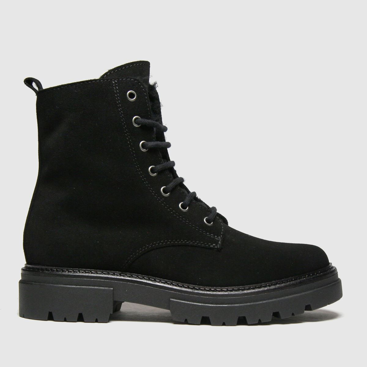 Schuh Black Ariana Suede Lace Up Boots