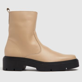 schuh Natural Alina Leather Sock Womens Boots