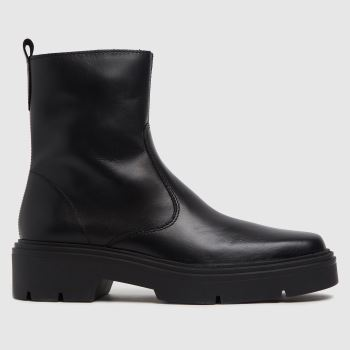 schuh Black Alina Leather Sock Womens Boots