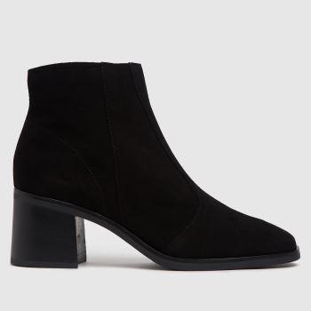 schuh Black Chiara Suede Square Toe Womens Boots