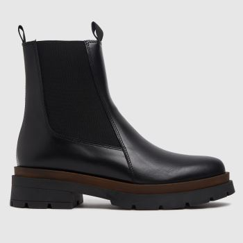 schuh Black Ames Leather Chelsea Womens Boots