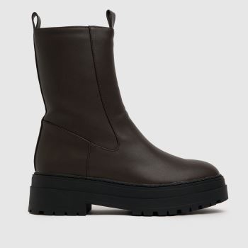 schuh Brown Amore High Cut Stretch Womens Boots