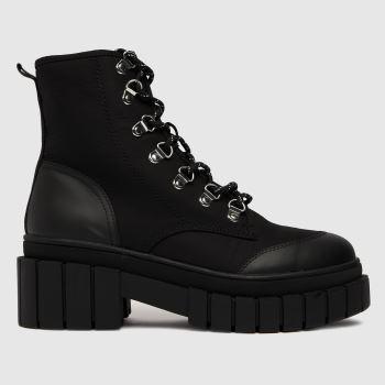 schuh Black Adriana Chunky Hiker Womens Boots