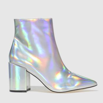 SCHUH SILVER ON POINT BOOTS