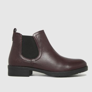 schuh Burgundy Release Leather Chelsea Womens Boots