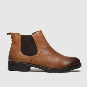 schuh Tan Release Leather Chelsea Womens Boots