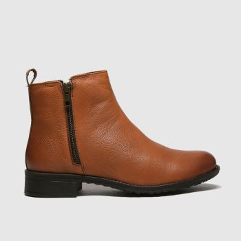 schuh Tan Liberate Leather Side Zip Womens Boots