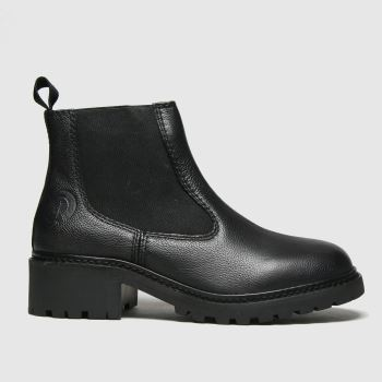 Red Or Dead Black Rebecca Leather Cleated Womens Boots
