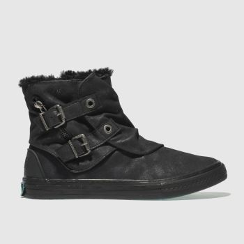 Blowfish Black Koto Shearling Womens Boots