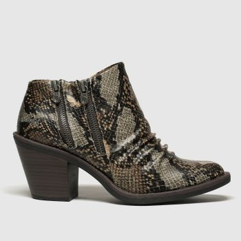 Blowfish Brown & Black Lole Vegan Womens Boots