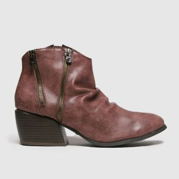 Blowfish Malibu Burgundy Charly Vegan Womens Boots#