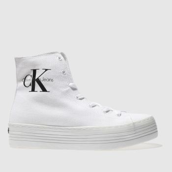 Calvin Klein White Jeans Zabrina Canvas Womens Trainers