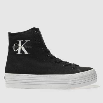 Calvin Klein Black Jeans Zabrina Canvas Womens Trainers