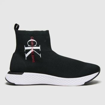 CALVIN KLEIN Black & White J Adalea Womens Boots