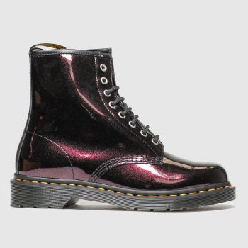Dr Martens Purple 8 Eye Sparkle c2namevalue::Womens Boots