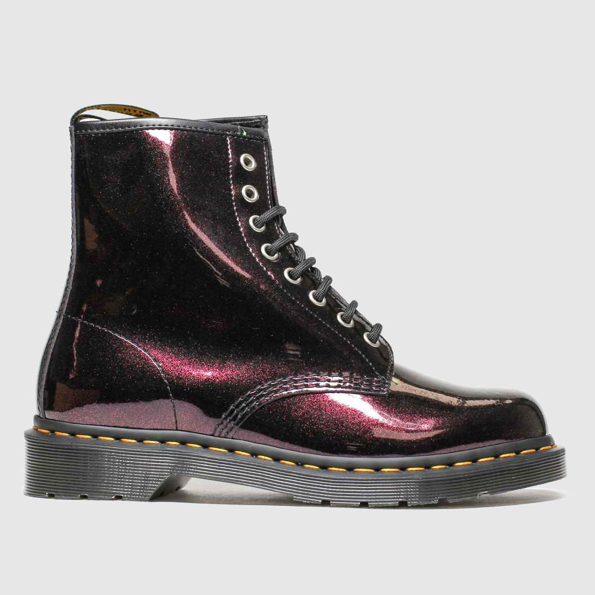 Dr Martens Purple 8 Eye Sparkle Boots
