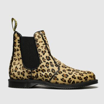 Dr Martens Beige & Brown Kensington Flora Chelsea c2namevalue::Womens Boots