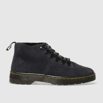 Dr Martens Dark Grey LAHAVA 6 EYE LINED CHUKKA Boots