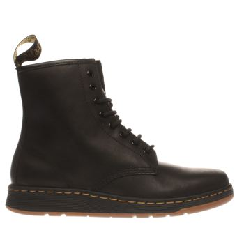 Dr Martens Black Newton 8 Eye Womens Boots