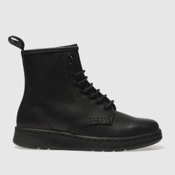Dr Martens Black Newton Mono 8 Eye Boot Womens Boots
