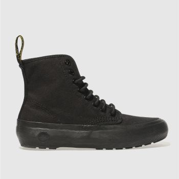 DR MARTENS BLACK MONET 8 EYE BOOTS