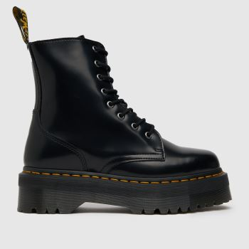 0d3763123292 Dr Martens Black Jadon 8 Eye Womens Boots