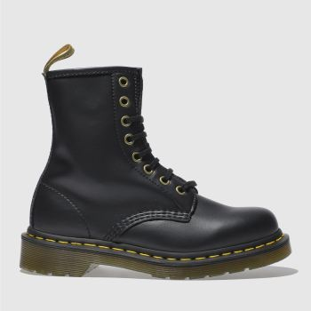 Dr Martens Black Vegan 1460 8 Eye c2namevalue::Womens Boots