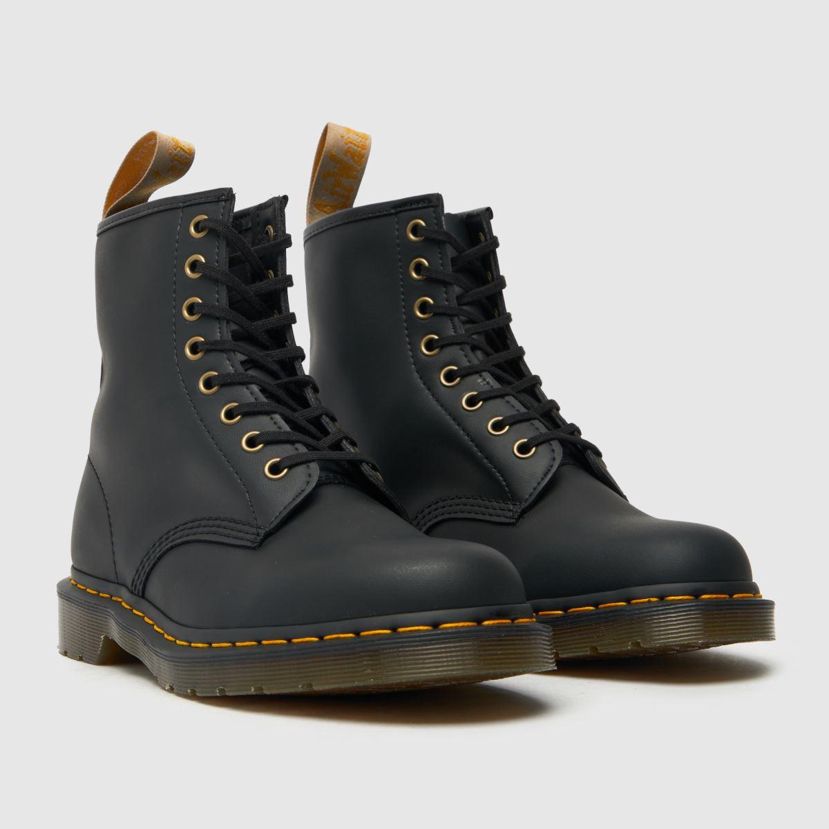 Damen Schwarz dr martens Vegan 1460 8 Eye Boots   schuh Gute Qualität beliebte Schuhe