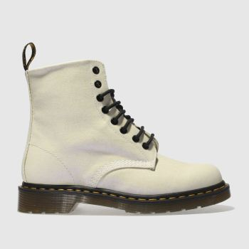 Dr Martens White Pascal 8 Eye Boot Glitter Womens Boots