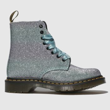Dr Martens Lilac Pascal 8 Eye Glitter Womens Boots 159c1e879f
