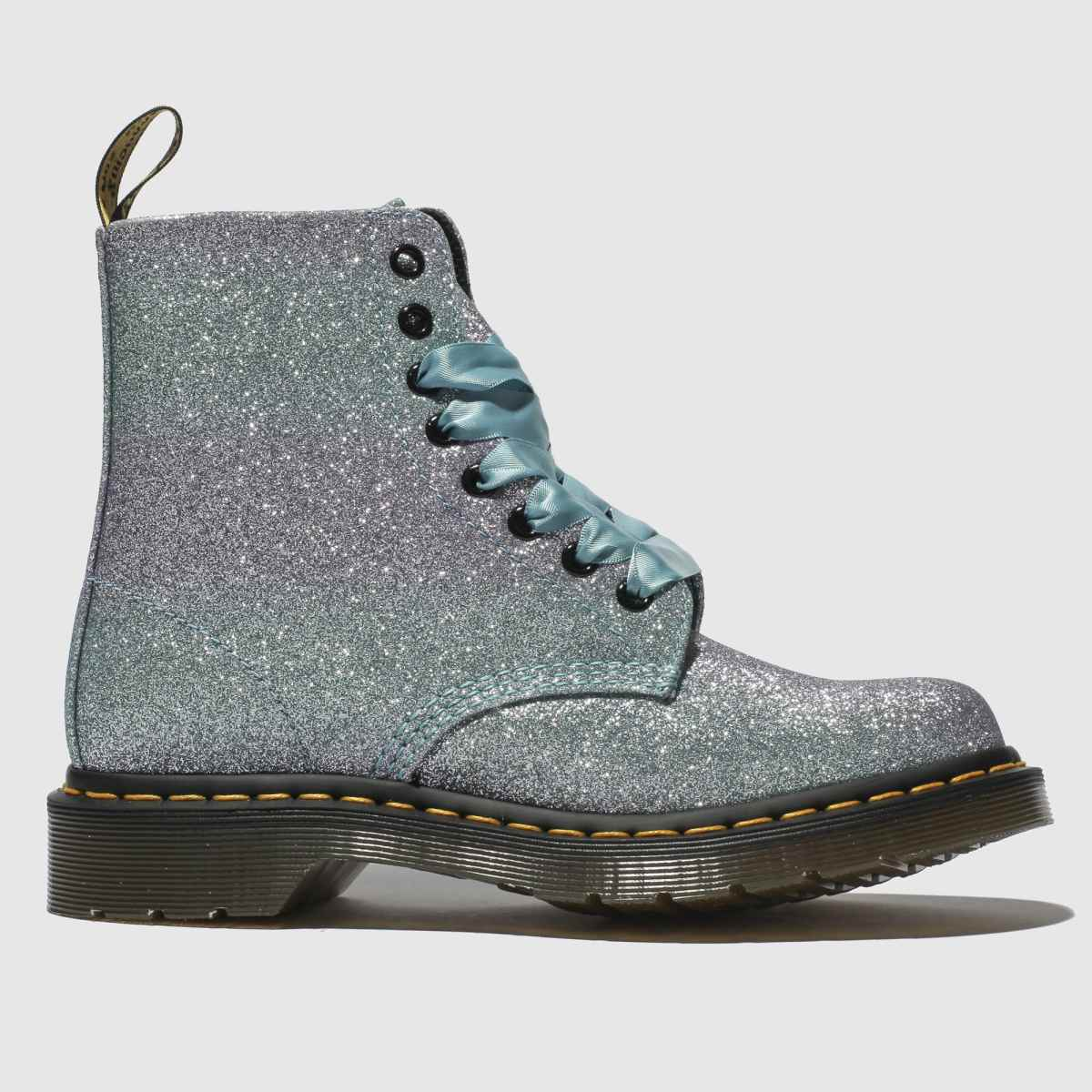Dr Martens Lilac Pascal 8 Eye Glitter Boots