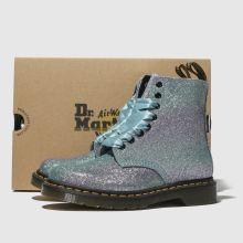 844eac179 womens lilac dr martens pascal 8 eye glitter boots | schuh