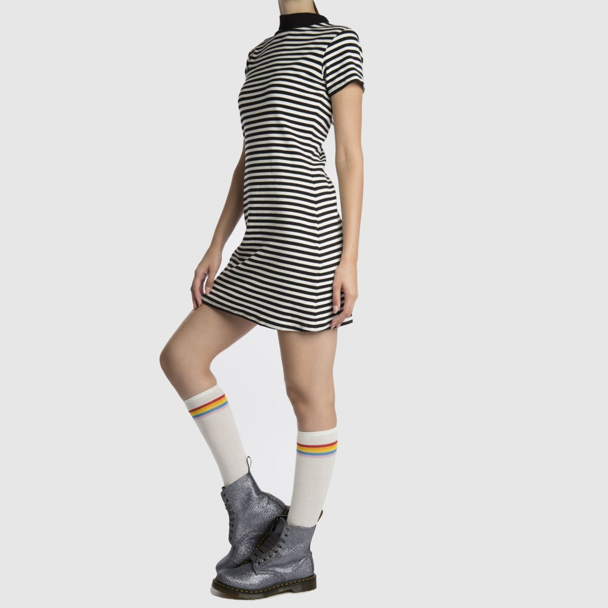 Damen Grau dr martens Pascal 8 Eye Boot Glitter Boots   schuh Gute Qualität beliebte Schuhe
