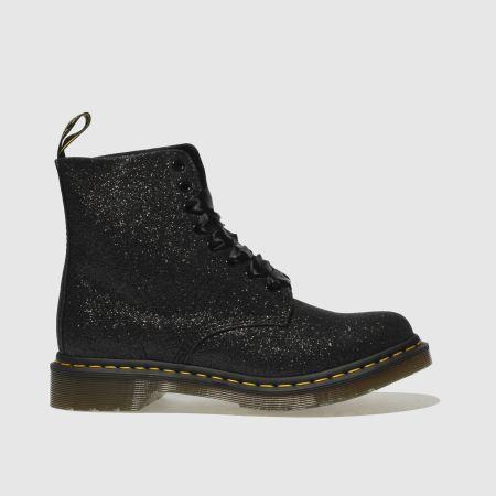 dr martens midnight black pascal 8 eye glitter boots