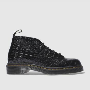 Dr Martens Schwarz Church Croc Monkey Damen Boots