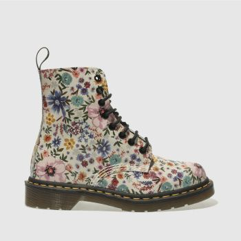 Dr Martens White & Pink PASCAL WANDERLUST Boots