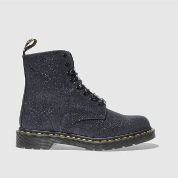 Dr Martens Midnight Black Pascal 8 Eye Glitter Womens Boots